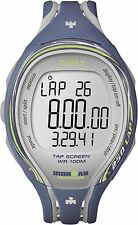 Timex Women's T5K592 Ironman Blue 250-Lap Resin Digital Watch