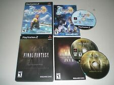 Final Fantasy X & XII 12 Collectors Edition CIB Complete in GREAT COND for PS2!