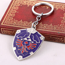 The Legend of Zelda Dark Links Hylian Shield Keychain Keyring Pendant Blue Edit