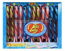 JELLY BELLY 12pc Gourmet CANDY CANES 6oz Box WATERMELON+TUTTI+BERRY Exp.8/19 2/2