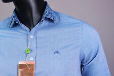 New Amazing Blue Color Button-Front Etro Casual Men's Shirt Size L