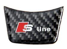 Audi Emblema Logo Sline S line Carbono Volante Adhesivo insignia Anagrama EMBLEM