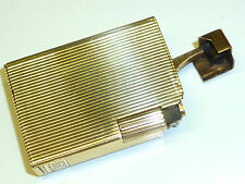 ROSE LIFTARM LIGHTER -SOLID 9 KARAT/375 GOLD W. SILVER PLATE - ENGLAND -RARE