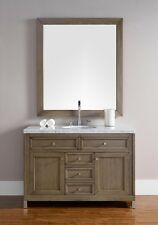 "48"" JAMES MARTIN CHICAGO ALL WOOD WALNUT SINGLE BOWL BATHROOM VANITY - NO TOP"