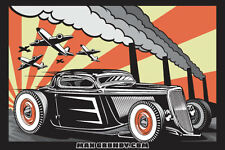 'Red Dawn' 34 Coupe Sticker by Californian Hot Rod & Custom Artist Max Grundy