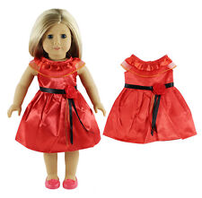 2016 CUTE Hot red dress clothes for 18inch American girl doll hot b707