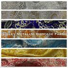 Paisley Metallic Brocade Fabric 58