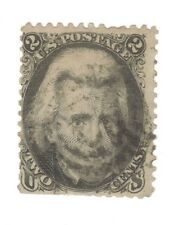 Scott 73 Early US Stamp 2c Jackson ...1861-66..Target Cancel   No Grill