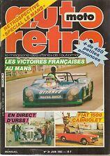 AUTO RETRO 34 12 VICTOIRES FRANCAISES AU MANS URSS HUDSON STEP DOWN FIAT 1600 CA
