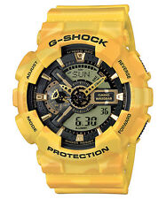 CASIO GA-110CM-9A G-SHOCK Ana-Digi Camouflage Resin Yellow Limited Edition