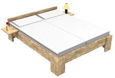 27mm Echtholz Kerneiche Massivholzbett 140x200 Fuß I Doppelbett Gästebett Bett