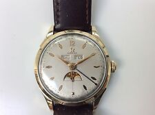 VINTAGE 1940s 1950s OMEGA TRIPLE DATE COSMIC MOONPHASE WATCH