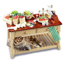 Reutter Porzellan Gemüsetisch / Salad Work Table Puppenstube 1:12 Art. 1.727/7