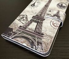 For Samsung Galaxy S6 - Leather Card Wallet Pouch Case Cover Paris Eiffel Tower