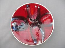 A Poole Pottery Delphis pin dish pattern 49 - Super Red & Blue - signed 1960/70s