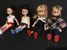 Vogue LOT OF 4 GINNY DOLLS Gym Plaid Poncho Sailor Vinyl Girl Poseable Figure