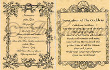 INVOCATIONS TO THE GOD & GODDESS, Book of Shadows Spells Pages, Wicca, Witch