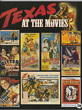 TEXAS AT THE MOVIES- SUPERB MOVIE POSTER ART BOOK JOHN WAYNE ERROL FLYNN