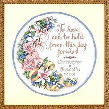 Dimensions Counted Cross Stitch kit Wedding Record ~ TO HAVE AND TO HOLD #03892