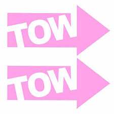 2 x JDM PINK TOW ARROWS - Race / Rally Car Decals / Stickers