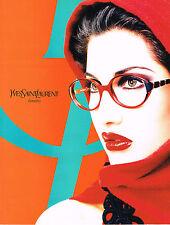 PUBLICITE  1996   YVES SAINT LAURENT  collection lunettes LAETITIA CASTA