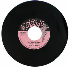 """CAROL CONNORS  """"THAT'S ALL IT TAKES""""   R&B    LISTEN!"""