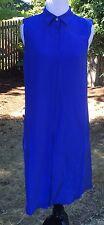 $128 J.Crew Silk Sleeveless Dress Blue  size XL item b2371 NWT!