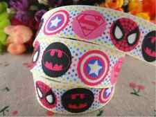 "1m SUPERHERO CHARACTER GROSGRAIN RIBBON 1"" 25mm HAIR BOW CAKE RIBBON"