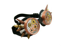 STEAMPUNK CYBER GOGGLES ALUMINIUM COGS CYBERGOTH COSPLAY GOTHIC RAVE CYBER