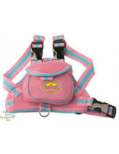 Pet Life Mesh Harness with Pouch in pink - Small