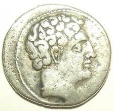 Circa 360-340 BC Antique Greek-Celtibertian Silver 'Drachma' Coin