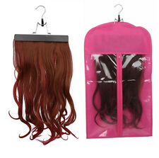Wigs Hair Extensions Carrier Storage Dustproof Bags Case Protector w/ Hanger Set
