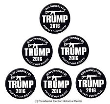 6-Pack Campaign Button Set - Gun Owners for Trump Protect our Rights