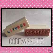Stamp/Wooden Stamp/Wood Mounted Rubber Stamp [Code: WSSC-08]