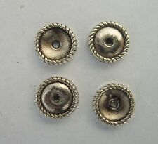 50pcs Tibetan silver Round flowers Beads Cap Spacer  9x2.5mm