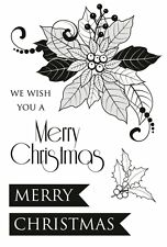 KAISERCRAFT Clear Rubber Stamp Set CHRISTMAS CAROL CS115 For Card Making Craft