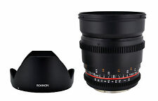 Rokinon 16mm T2.2 Ultra Wide Angle Cine Lens for Canon EF-S VDSLR - New Lens!