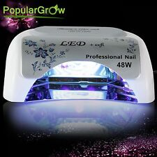 PopularGrow UV Nail Care Lamp 48W CCFL&LED Cure Gel Dryer Light Timer Gel Polish