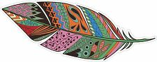 TRIBAL FEATHER FEATHERS INDIAN BOHO BOHEMIAN GYPSY DECAL STICKER STICKERS STY 4
