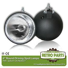"Ford Fiesta Mk2 Classic Rally 6"" Round Driving Lights Spot Lamps"
