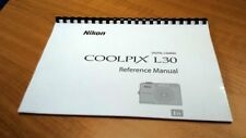 NIKON COOLPIX L30 CAMERA PRINTED INSTRUCTION MANUAL USER GUIDE 160 PAGES A5