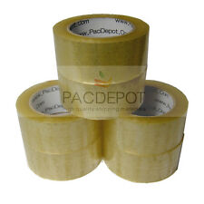 "72 ROLLS Carton Sealing Packing Tape 2"" x 110 Yards 2.5 Mil Clear Heavy Duty US"