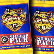 POGS 1995 USA 1 x Sealed Foil Pack ANIMANIACS Milkcaps - ULTRA RARE - POG SHOP