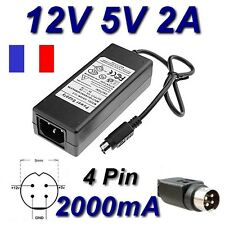 Alimentation 12V 5V 2A 4 Pin Disque Dur Zaapa 360 HDMI Media Player ZC-MPDVBRH