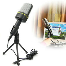 3.5mm AUX Jack Singing Recording Microphone Mic For Laptop PC Computer MSN Skype