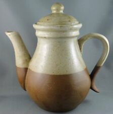 Laurentian Coffee Pot Teapot Art Pottery Canada 1970s Stoneware 6 cup LP Stamp