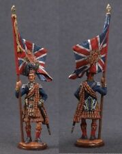 Tin toy soldiers ELITE painted 54 mm  Scottish standard-bearer