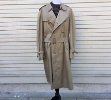 Burberry Tan Men's Double Breasted Trench Coat, removable wool liner - 42 Long