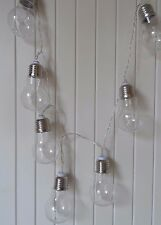 VIntage Retro Light Bulb LED Fairy Light Garland String Warm White - Battery
