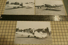 """3: GRANVILLE'S 1ST GEE BEE SPORTSTER NR-49V SET#48 B & W 4"""" X 6"""" AIRPLANE PRINTS"""